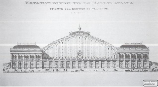 Planos de la fachada principal de la Estacion de Atocha