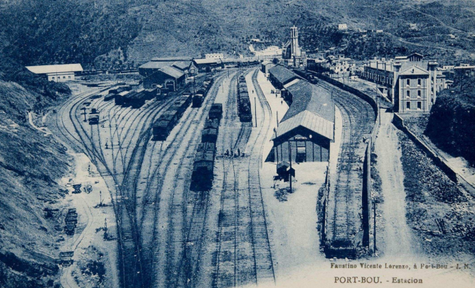 Port Bou , vista estacion lado Ge