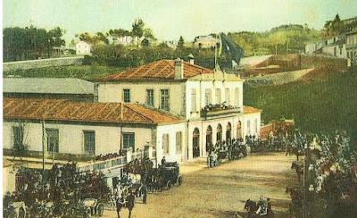 Primera estacion de MZOV en vigo, año 1878. Archivo MVF