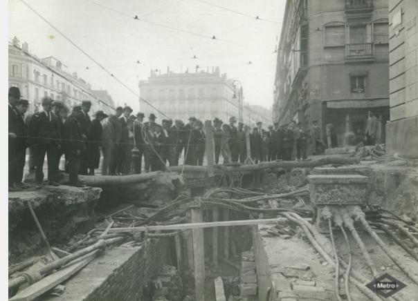 Primeras Obras en 1917, Archivo Fot. Metro de Madrid