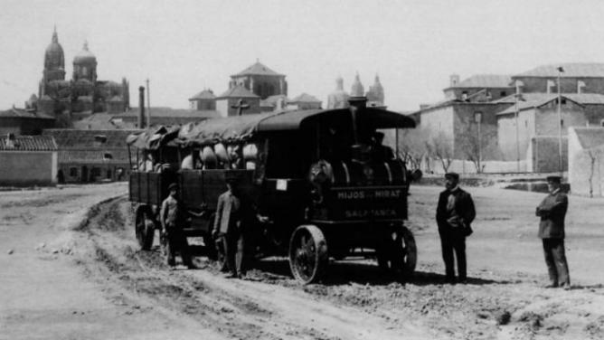 Primeros sistemas de transporte de la compañía Mirat. Archivo APG