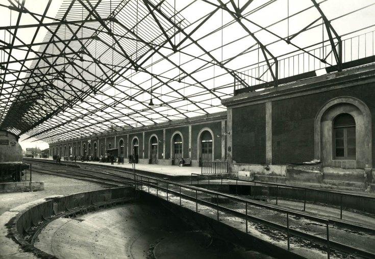 Primitiva estacion de Reus, foto Francisco Rivera , año 1955, fondo Museo del Ferrocarril de Catalunya