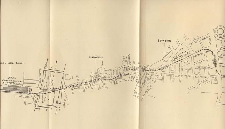 Proyecto de Metropolitano de Valencia- 1941-1942, Ing. Manuel Lamana
