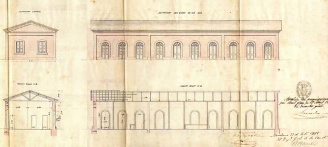 Proyecto de la estacion de Marchena, año 1866, fondo AHF