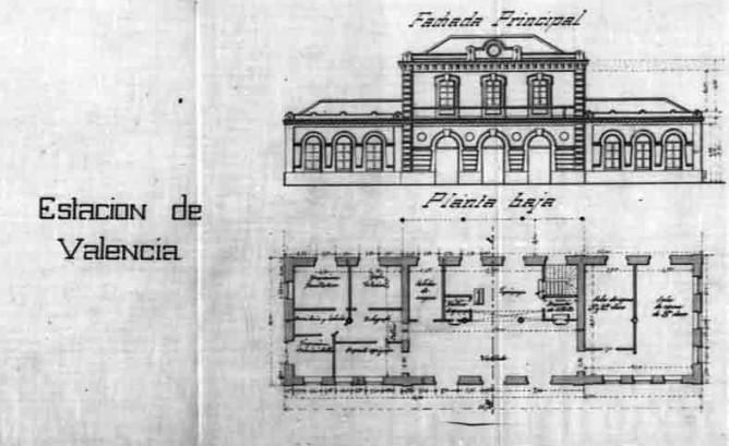 Proyecto fachada de la estacion de Valencia y Aragón- Ing Rafael Valls Davd. AGA