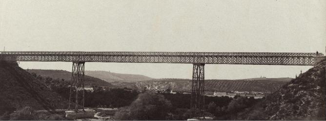Puente Genil Puente ferroviario , año 1867, fotografo desconocido