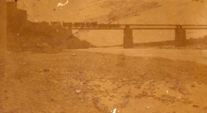 Puente del Mijares, linea AVT , archivo Carlos Almazan Massó