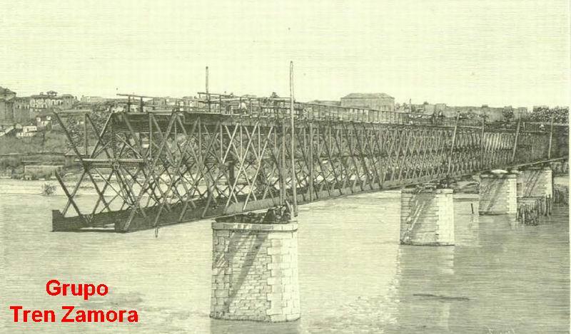 Puente del Duero 1890 puente en Zamora