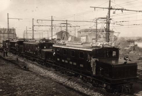 Puertollano, locomotoras 101 a 105 , foto Luis Miguel Truells, Archivo Hobby Tren