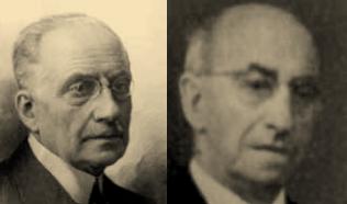 los ingenieros de Caminos Ramon Aguinaga Arrechea y Jose Aguinaga Keller