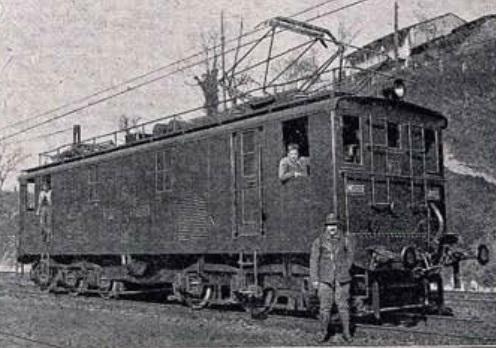 Rampa de Pajares, locomotora , marzo de 1924 , Ingenieria y Construccion