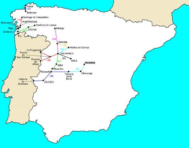 Red de la Compañia del Oeste de España