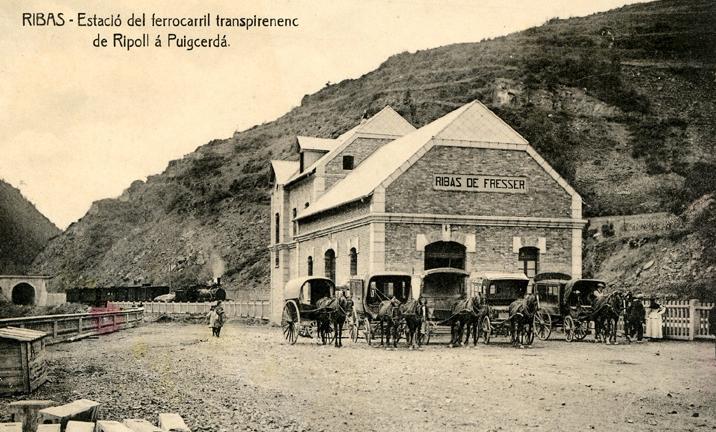 Ribas de Fresser, fondo Servicio Electrico de Renfe , MFC