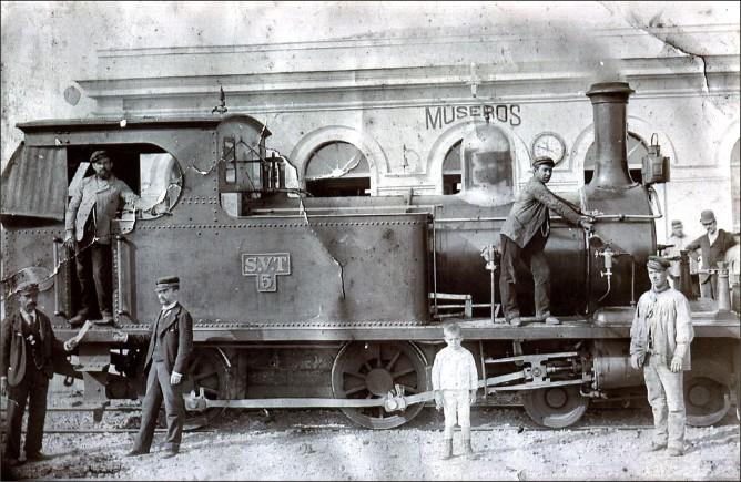 SVT locomotora Hunslet nº 5 en MUSEROS, archivo Pascual Navarro Navarro
