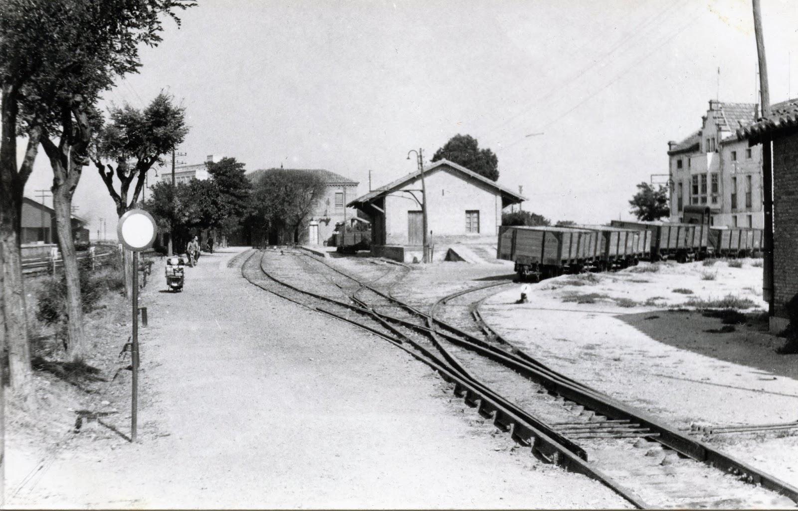 Sadaba a Gallur, estacion de Gallur , enlace con Norte , foto Christian Schnabel