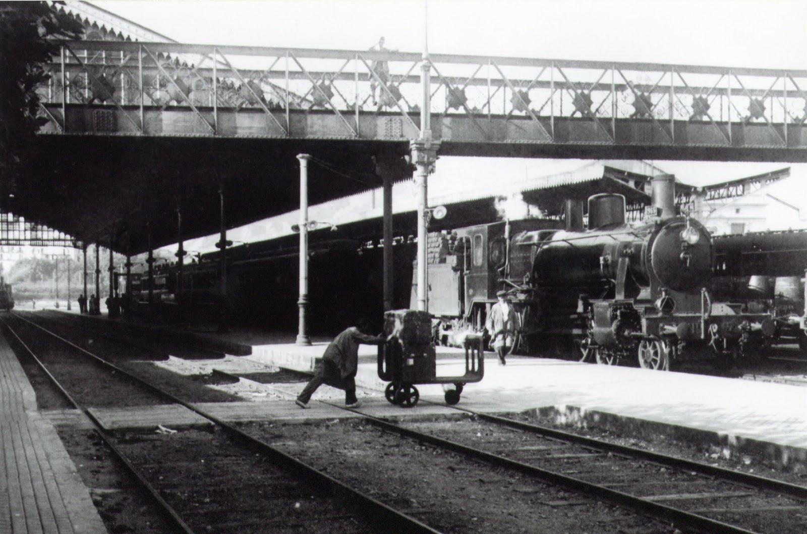 San Sebastian , estacion del Norte , año 1919, fotografia José Isard