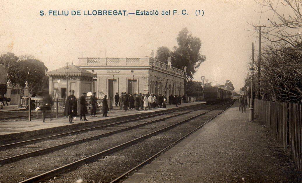 Sant Feliu de Llobregat, postal comercial, fondo : Miguel Diago Arcusa