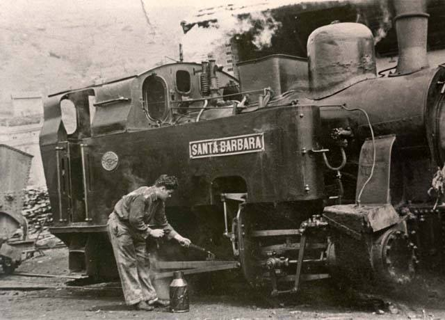 locomotora Santa Barbara, ferrocarril minero de Arditurri