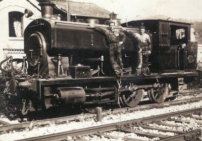 antander Mediterraneo-Locomotora destinada a las obras , foindo: Olaizola