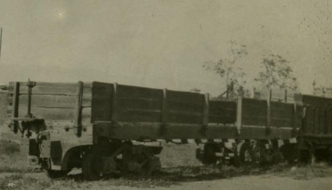 Sierra Alhamilla a Almeria , vagon de mineral con bogies