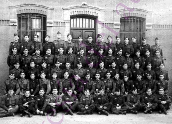 Soldados del 5ª Batallon del Reg. de M. y Practicas de FFCC, fondo Cristobal Portillo, Archivo Regional de Madrid