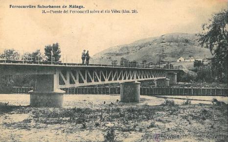 Suburbanos de Málaga, Puente sobre el rio Velez , postal comercial