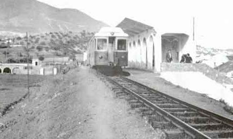 Suburbanos de Málaga, estación de Los Boliches (Fuengirola) año 1964, archivo Antonio Jesús Real