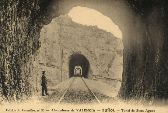 Túnel de Siete Aguas, POstal comercial