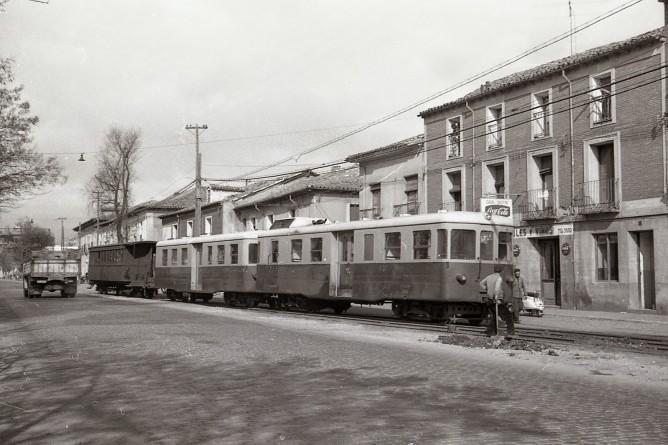 Tranvía de Valladolid a Medina de Rioseco, automotor Billard , foto Trevor Rowe, fondo MVF
