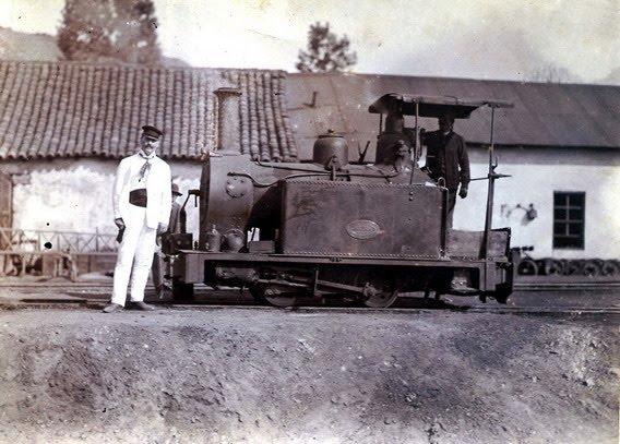 The San Miguel Cooper Mines , locomotora de ancho 600 mm , fondo blog Garrat