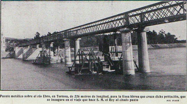 Tortosa primitivo puente sobre el Ebro