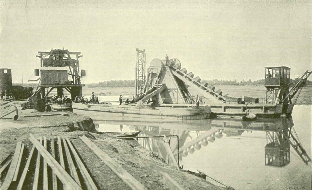 reparar los apeos para el cruce ferroviario, La Ilustracio E y A. 08.07 1896