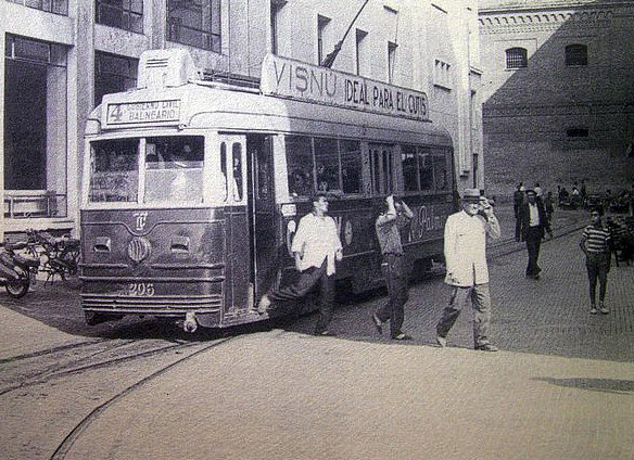 Tranvía de Cádiz en la Calle Lázaro Dou, Archivo Blog Pasion por C.
