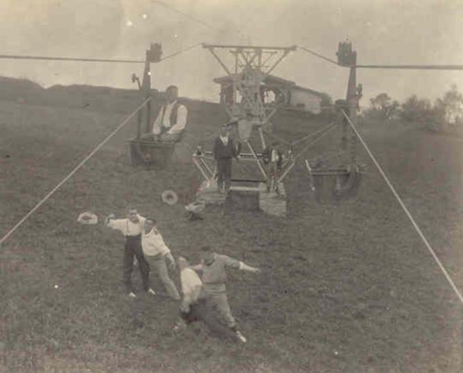 Tranvia aéreo de Minas de Andazarrate, archivo Zarauko Argatzaki Arxiboa