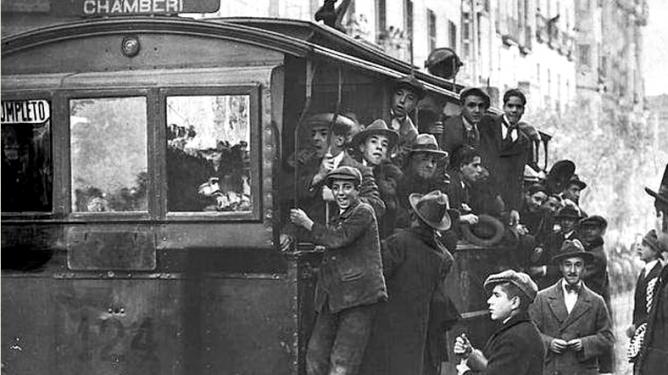 Tranvia a Chamberí , en 1913