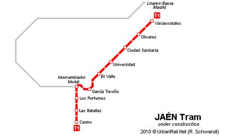 Tranvia de Jaen esquema Urban Rail Net