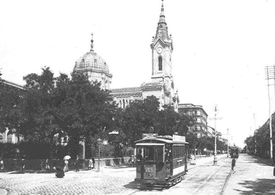 Tranvia de Madrid, calle Pincesa , año 1905, fondo Carlos Pimentel