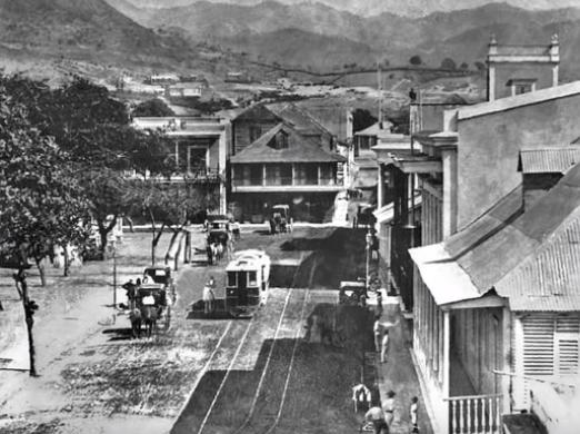 Tranvia de Ponce ,año 1880.