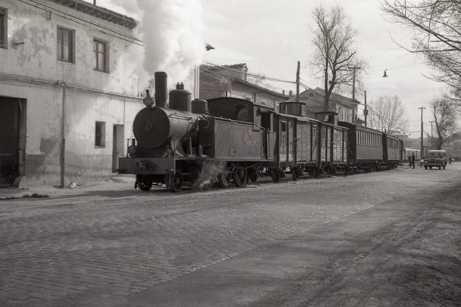 Tranvía de Valladolid a Medina de Rioseco, foto Trevor Rowe, fondo MVF