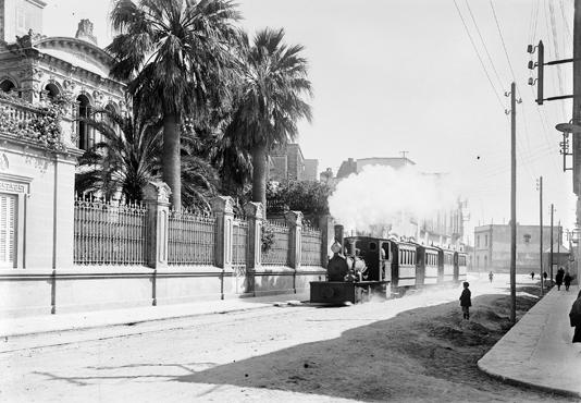 Tranvia del Bajo Amprudan, Palamós, c.1930. Coleccion Roisin-IEFC-ACM-9-12.565