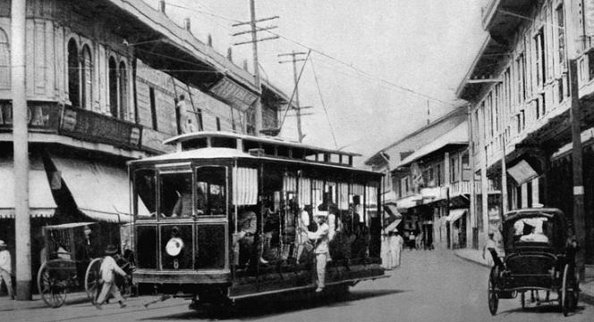 Tranvia electrico en Manila , abril de 1905, foto John Tewell