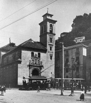 Tranvia en Santa Ana , año 1910, Archivo Municipal de Granada