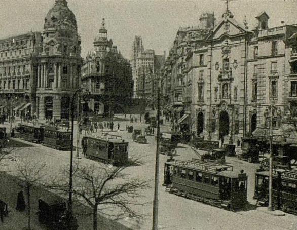 Tranvias de Madrid, calle Alcalá, Guia Norte 1930