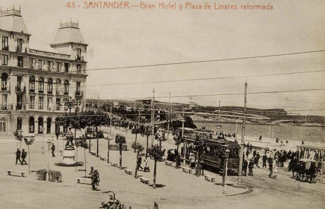 Tranvias de Santander , archivo de Postal comercial