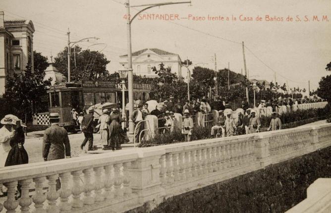 Tranvias de Santander , postal comercial