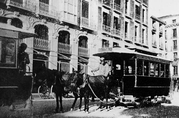 Tranvias de Zaragoza, linea de Torrero , AHPZ, coleccion Coyne