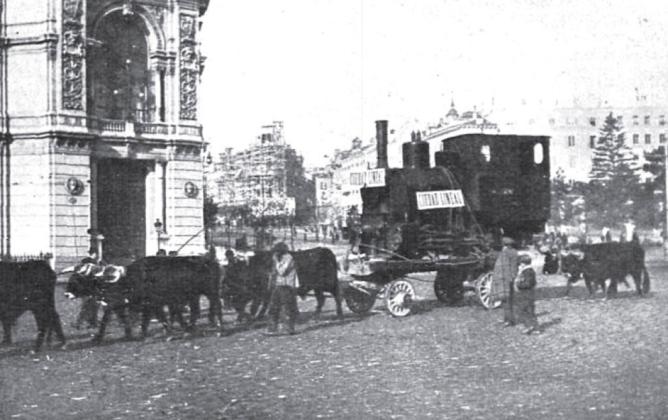 Traslado de una locomotora del Fc de Madrid a Colmenar Viejo al de Vallecas CMU, archivo Joan Alberich