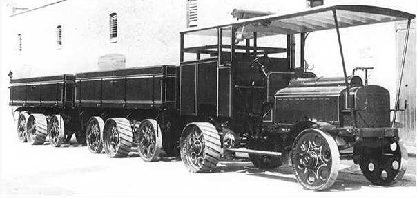 Tren Renard con tractora Daimler