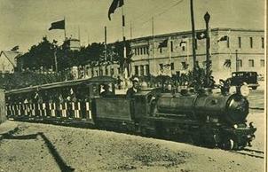 Tren de la exposicion Iberoamericana de Sevilla
