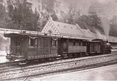 Tren funebre en la estación de Bilbao-Calzadas, foto Familia Reigadas.